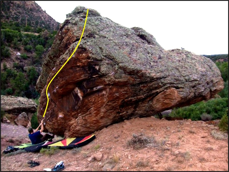 Brad starting out the Synthetic Stroke problem on Ripple Rock.