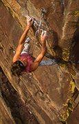 Rock Climbing Photo: Colin Lantz - 3rd bolt clip.