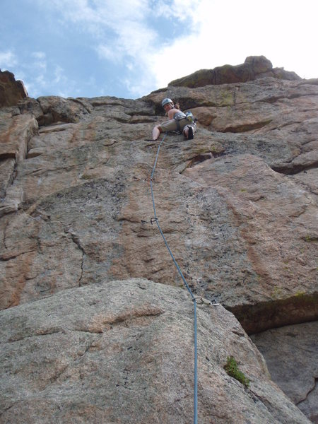 Rock Climbing Photo: Me leading the climb.