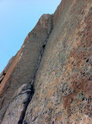 Rock Climbing Photo: stemming pitch on Original Beckey