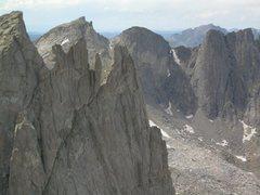 Rock Climbing Photo: Warrior 1. Upper Beckey Route from Warbonnett