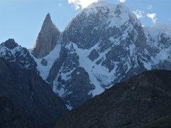 Rock Climbing Photo: Unclimbed face of Bojoahgur Dunasir (24, 239 feet)...