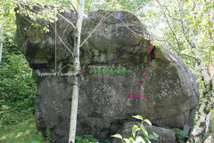 Rock Climbing Photo: Ely's Peak Bluff Boulder