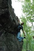 Rock Climbing Photo: Salil joking around on Discrete Mathematics