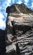 Rock Climbing Photo: Scott sticking his head in what apparently is the ...