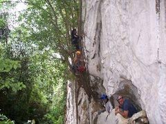 Rock Climbing Photo: Adventure pimps climb 15 feet up to entrance exam ...