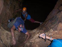 Rock Climbing Photo: climbing with slick feet is tough
