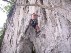 Rock Climbing Photo: go right of the tuffa