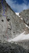 Rock Climbing Photo: The upper pitches of the Rainbow Highway are in Bl...
