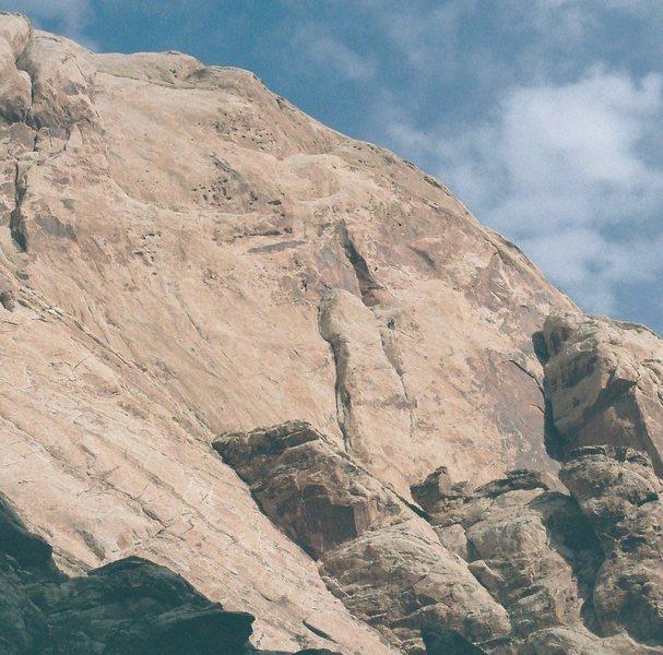 Rock Climbing Photo: Lance Bateman .Paul Ross on Heliotropism 5.12.