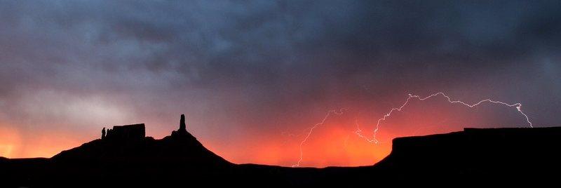 july sunrise lightning