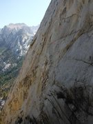 Rock Climbing Photo: Crystal Meth 5.11c starts up the cool quartz cryst...