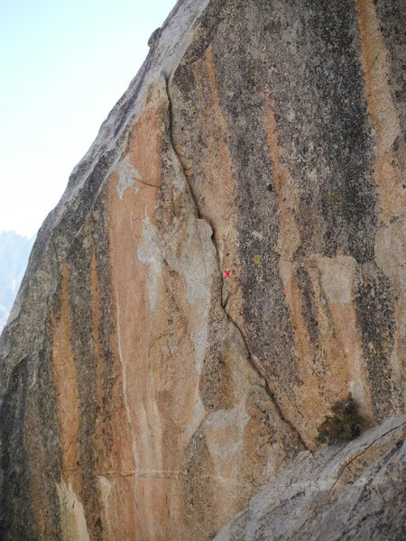 Rock Climbing Photo: Press the Eject (5.10c) Steep flake with bolt