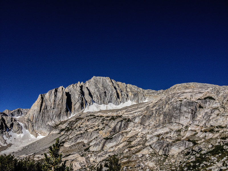 Mt. Conness from the approach to the North Ridge. Photo by Brian Aitken taken 07/24/2012.