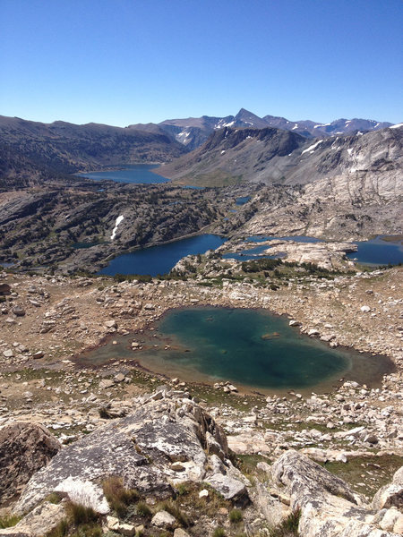 Rock Climbing Photo: Looking back at the lakes from the start to the No...