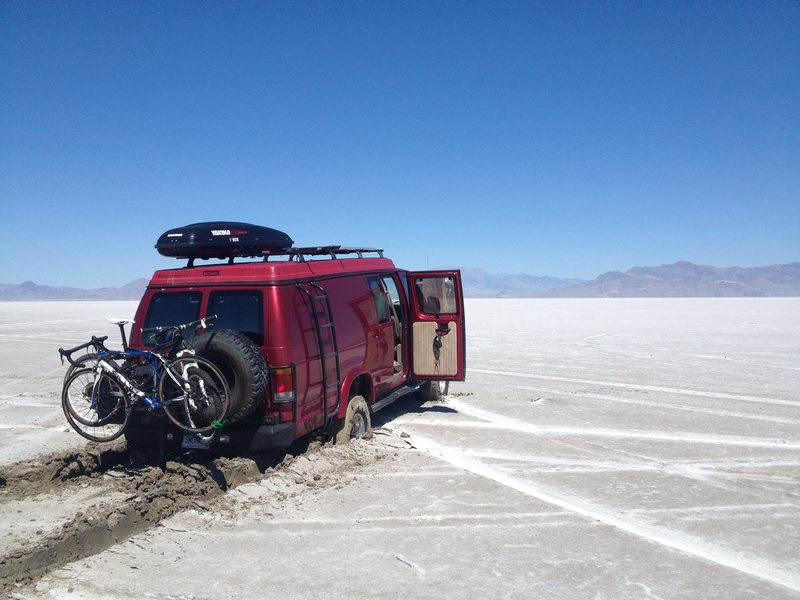 Stuck in the salt flats