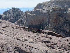 Rock Climbing Photo: This photo shows how low angle the northeast arete...