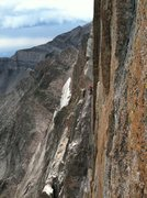 Rock Climbing Photo: Unknown climbers on Pervertical, (Greg? and ?), ta...