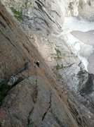 Rock Climbing Photo: Monte Lunacek low on the first pitch of the D7 Var...