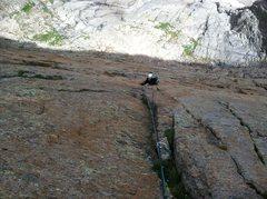 Rock Climbing Photo: Monte Lunacek climbing.