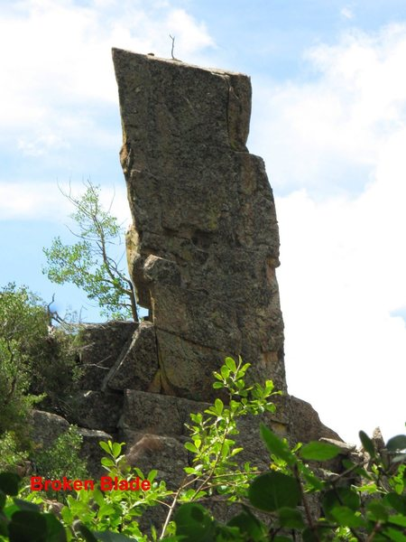 Broken Blade Pinnacle from the east