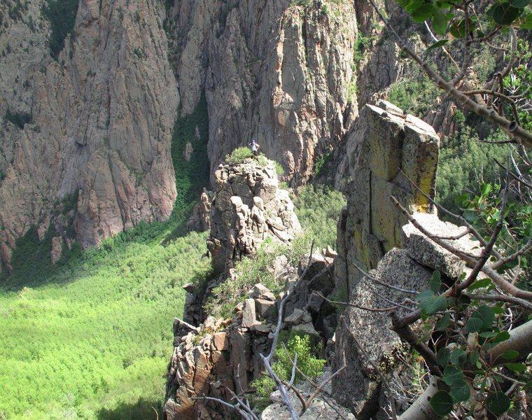 Rock Climbing Photo: Broken Blade Ridge, with the Broken Blade and Jay ...
