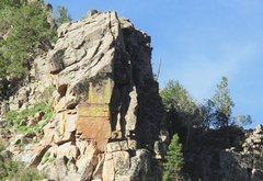Rock Climbing Photo: Broken Blade Ridge Upper section, from the east