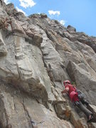 Rock Climbing Photo: Ben Collett about to enter the steep corner on P3.