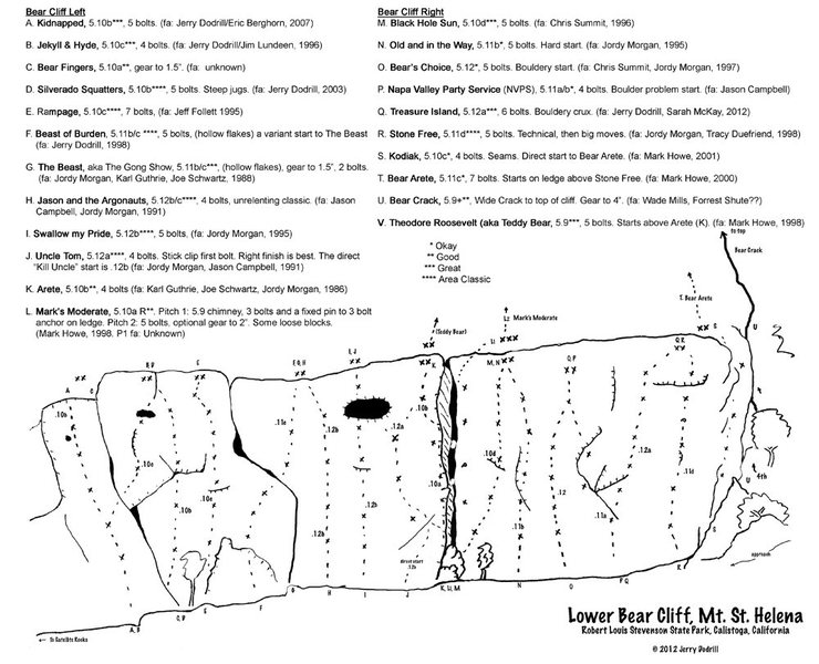 Bear Cliff Topo, updated 2012