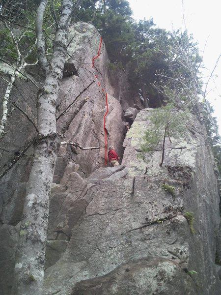 Rock Climbing Photo: Tradition Mission 5.10c