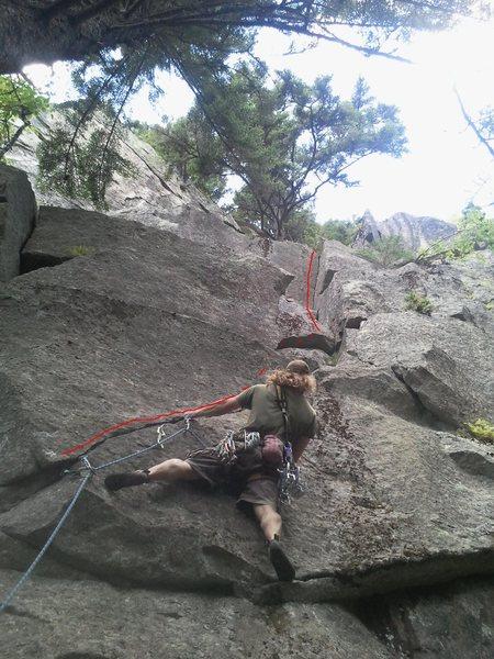 Rock Climbing Photo: Cory Hall FFA of Gringo's Last Stand 11-
