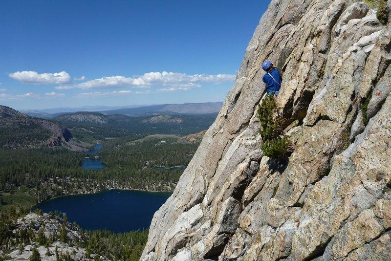 Rock Climbing Photo: Halfway up Crystal Crag.