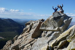 Rock Climbing Photo: Crystal Crag summit with the bro.