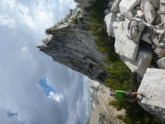 Rock Climbing Photo: Descending from Cathedral Peak.