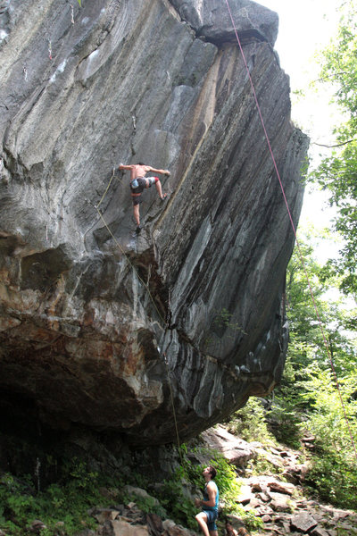 Jay conway in the corner emile on belay