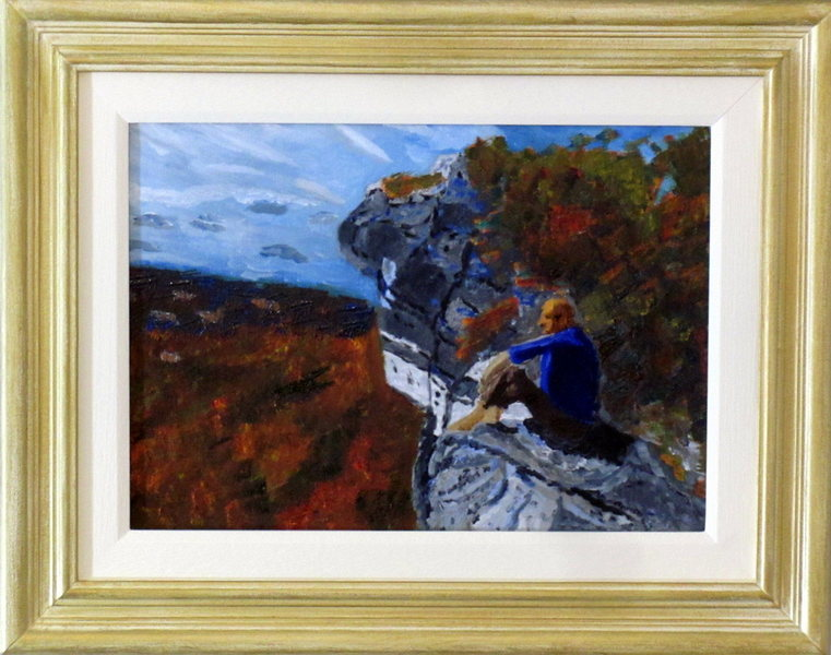 'Gunks in Autumn.<br> <br> Bonus points to anyone who can name the route I had just completed.