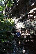 Rock Climbing Photo: Car Wall  Passing Lane (5.9) trad  Crowders Mounta...