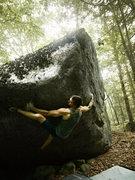 Rock Climbing Photo: Matt Giossi on the start of Jabba the Hut