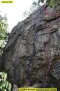 Rock Climbing Photo: Practice Wall  1)Burn Crack (5.10) trad  2)Slimebe...