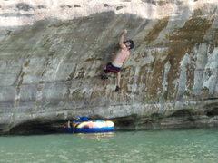 "Rock Climbing Photo: ""Don't Drift Away"" Project V5+"