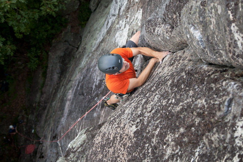 Tom pulling into the awesome finger locks of One Pitch Wonder