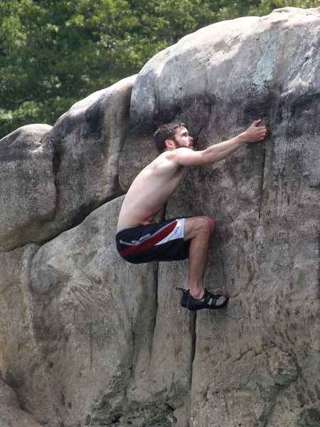 "Rock Climbing Photo: ""Charcoal Slap"" v3+"