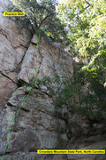 Rock Climbing Photo: Practice Wall  So It Goes (5.8+) trad  Crowders Mo...