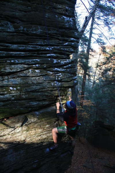 Rock Climbing Photo: Not sure what the name of this climb is. It's arou...
