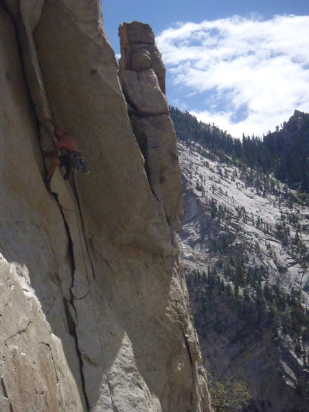 """Rock Climbing Photo: Leading """"After the Fall"""" in Little Cotto..."""