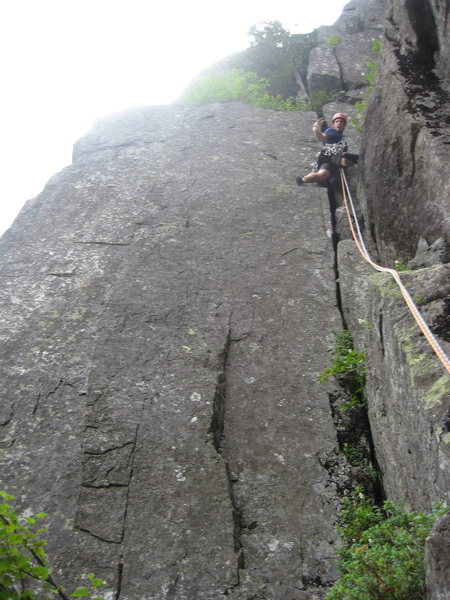 Rock Climbing Photo: Simon Thompson leading the final corner of Diagona...