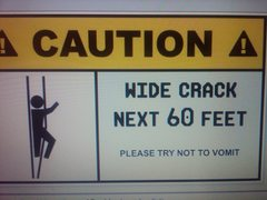 Rock Climbing Photo: this is sound advice for this an most kw routes ..