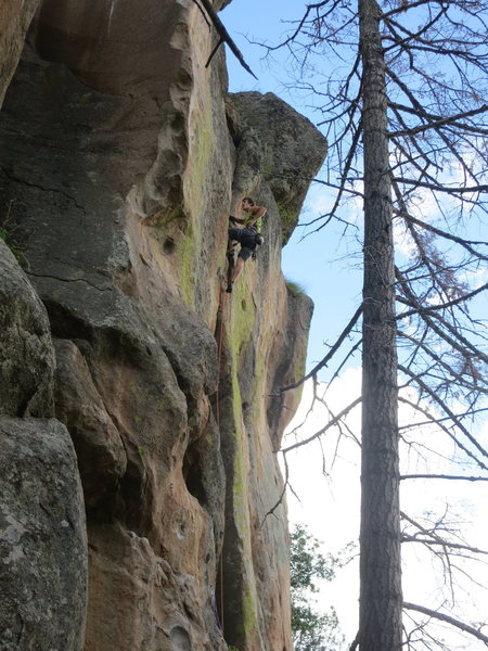 Rock Climbing Photo: John Crawley climbing Nature Boy, Rick Flare.