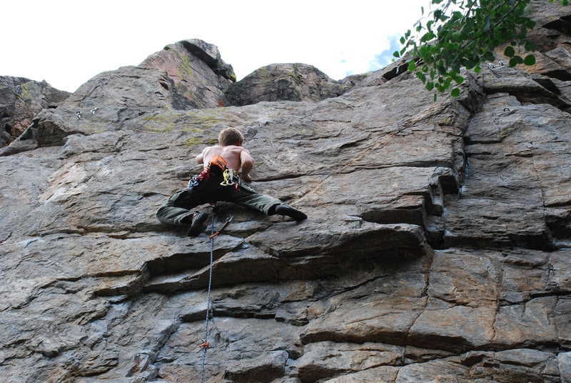 Rock Climbing Photo: Just over the crux.