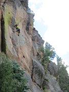 Rock Climbing Photo: John Crawley moves through superb technical climbi...